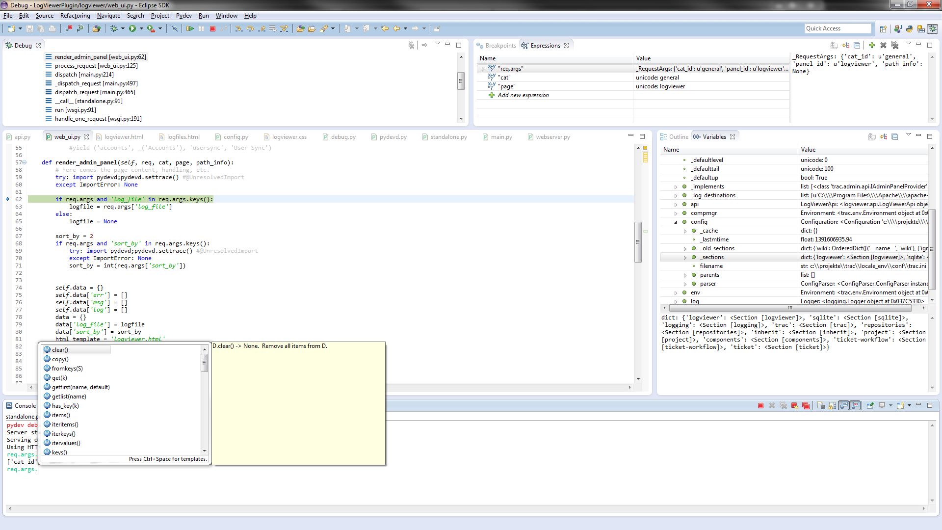 remote development on caen with eclipse I need to develop programs using c and compile it using the xlc compiler  currently i can open remote files in eclipse(juno) using rse and edit files, but.